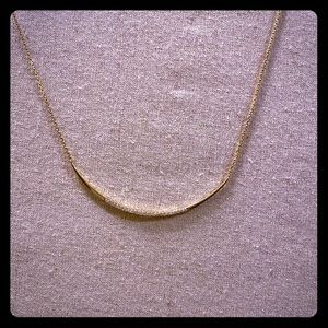Stella and Dot Gold and Pave necklace